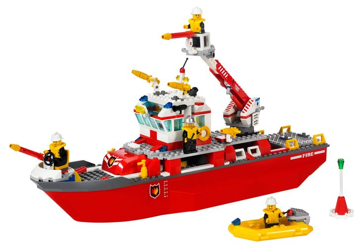 LEGO Boats | http://city.lego.com/en-US/Products/Fire+Boat/7207.aspx