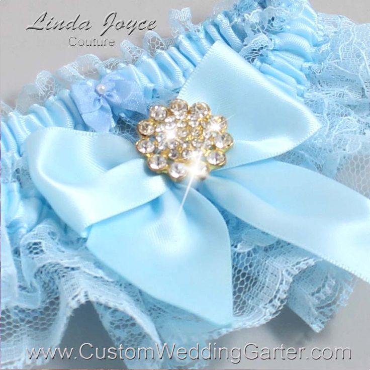 Light Blue Wedding Garters Vintage Bridal Garter Lace Penny Gold 305 Alice Prom Plus Size Queen