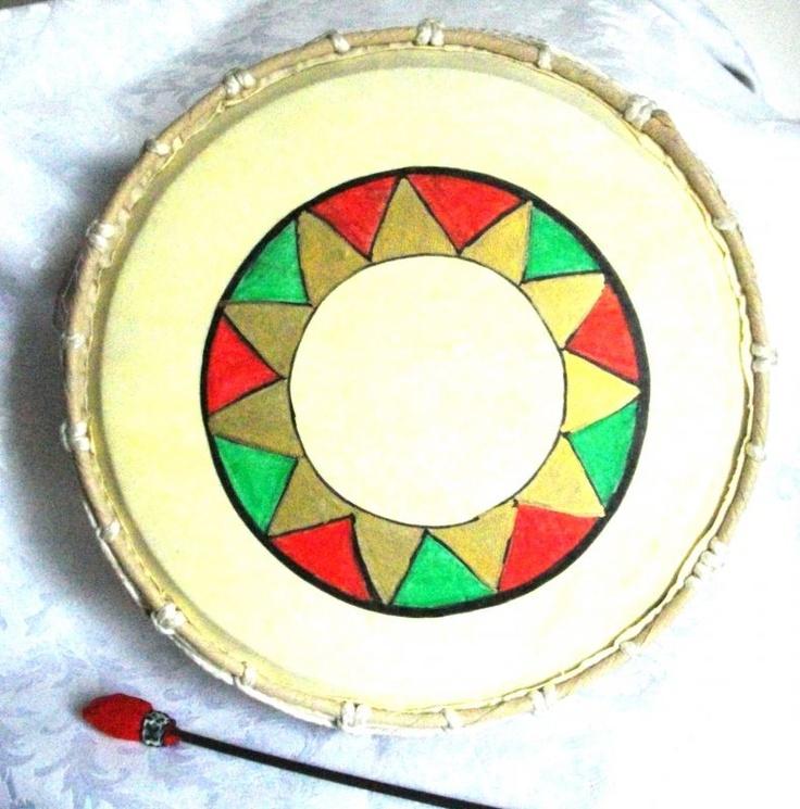 Tamburo Sciamanico Decorato 28cm