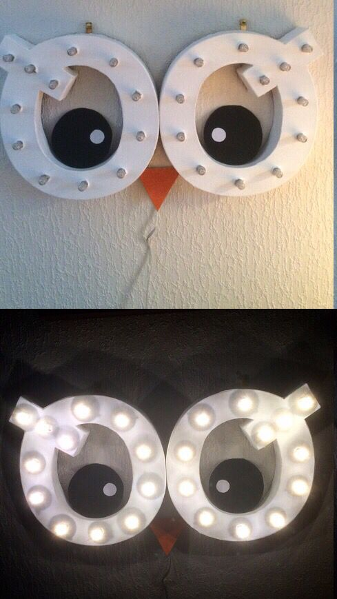 Diy lightning owel eyes