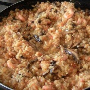 Паэлья с грибами и креветками рецепт – испанская кухня: ризотто. «Афиша-Еда»