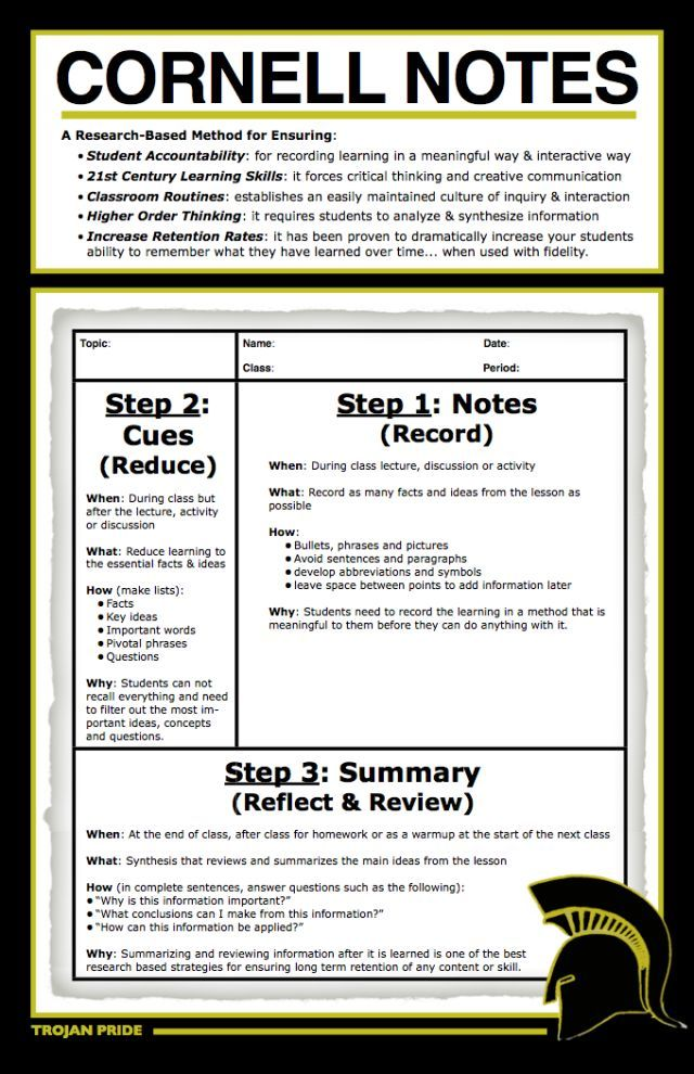 powerful note taking system cornell method canada cornell notes and note. Black Bedroom Furniture Sets. Home Design Ideas