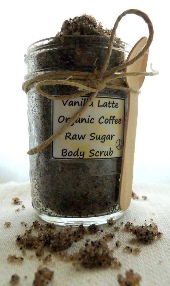 Coffee Scrub  Organic Coffee Scrub  Vanilla Latte by Hipeecraft, $10.00
