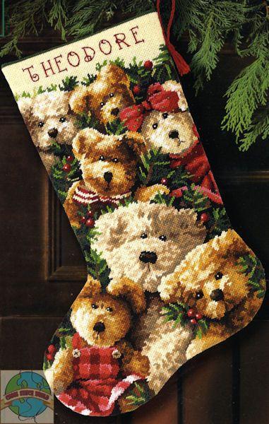 dimensions cross stitch stocking - Google Search
