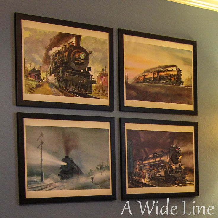 A Wide Line: From Nursery to Big Boy Bedroom: Trains, trains and more trains