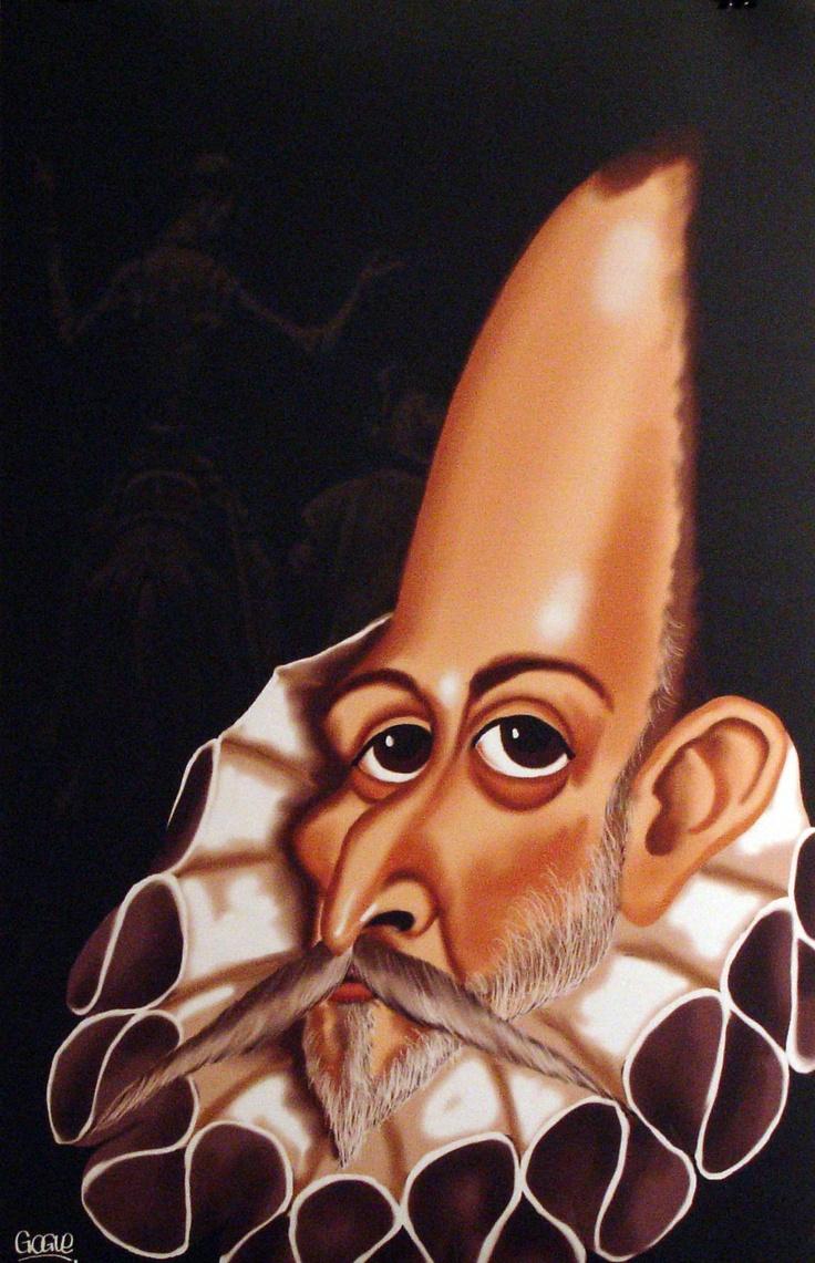 Miguel de Cervantes y Saavedra (1547-1616) retrato hecho por Gogue