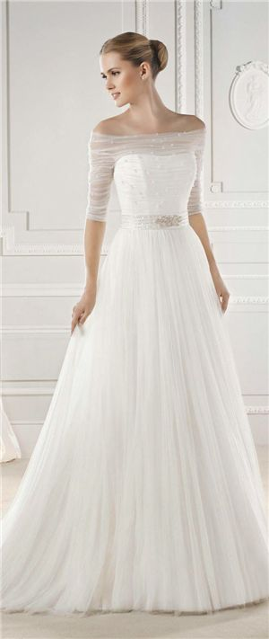la sposa 2015 belted wedding dressesprincess