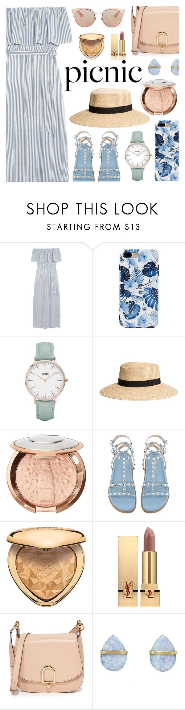 Picnic in the Park by dora04 on Polyvore featuring Alice + Olivia, MICHAEL Michael Kors, Melissa Joy Manning, CLUSE, Christian Dior, Sephora Collection, Yves Saint Laurent, Too Faced Cosmetics and picnic