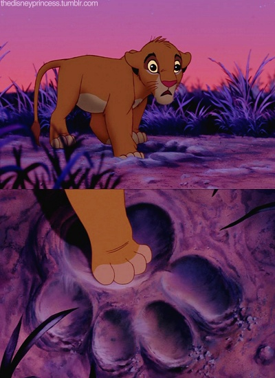 Simba and Mufasa's paw print
