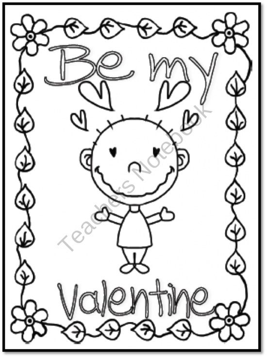 valentine coloring pages spanish - photo #20