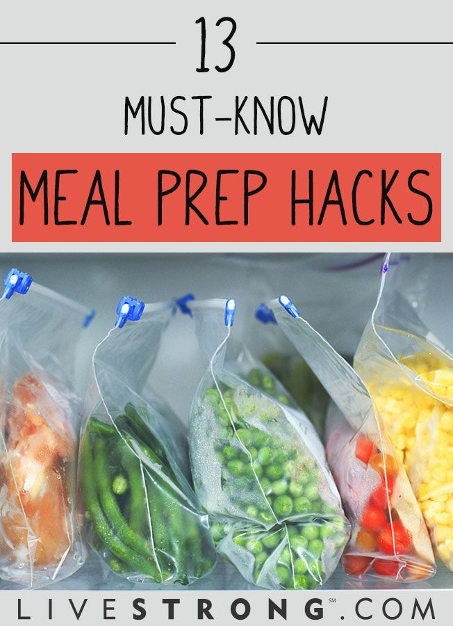 13 Meal-Prep Hacks to Save Time in the Kitchen | Meals