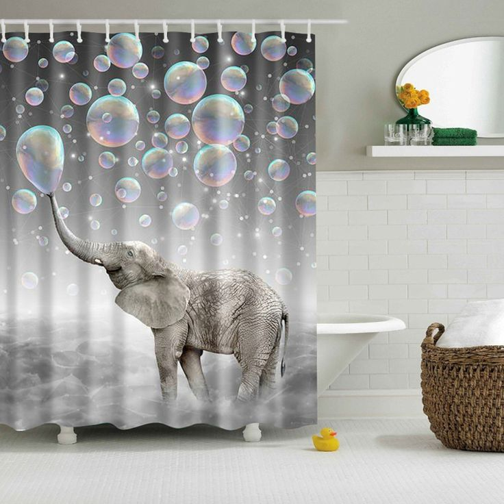 Cheap shower curtain, Buy Quality print shower curtain directly from China cortina ducha Suppliers: Polyester Waterproof Bathroom cortina ducha 3D elephant printed Shower Curtain Curtain with Hooks