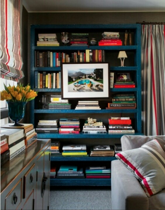 Blue Bookcase Captivating With Blue Bookshelves with Books Images
