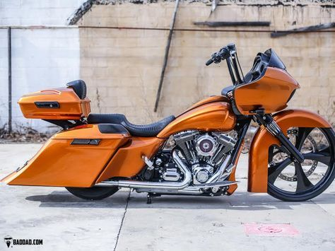 Baggers | :: Amber Whiskey Road Glide | Bad Dad | Custom Bagger Parts for Your Bagger
