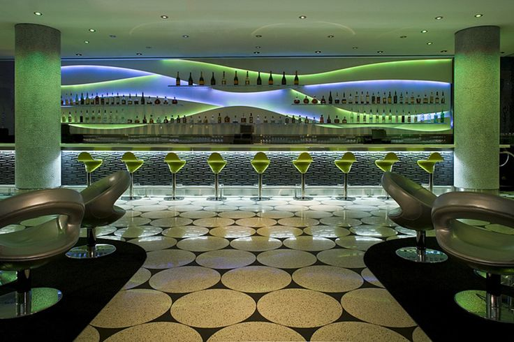 Ghost Bar is a rooftop lounge on the W Hotel overlooking ...