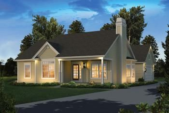 Country Plan: 1,308 Square Feet, 3 Bedrooms, 2 Bathrooms - 5633-00272