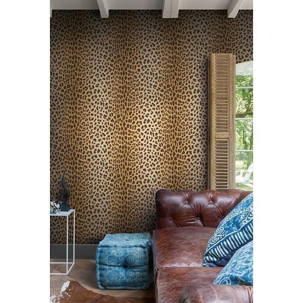 Luipaard behang van de Behangwinkelier. Ook nog in meerdere kleuren