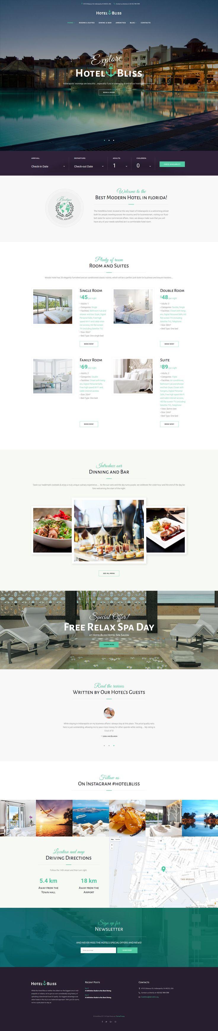 Tema WordPress per Un Sito di Hotel