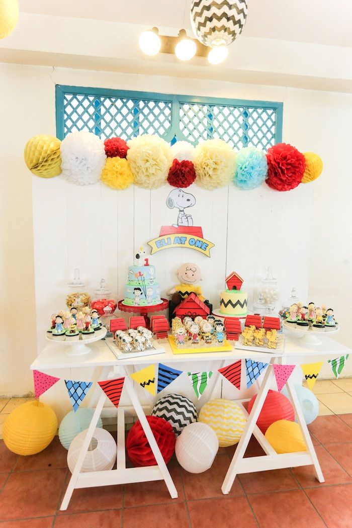 Peanuts + Snoopy Birthday Party on Kara's Party Ideas | KarasPartyIdeas.com (26)