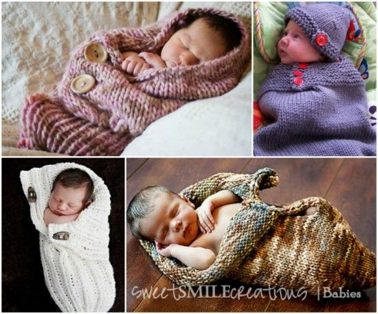 DIY Knit Baby Cocoons Free Patterns - http://theperfectdiy.com/diy-knit-baby-cocoons-free-patterns/ #DIY