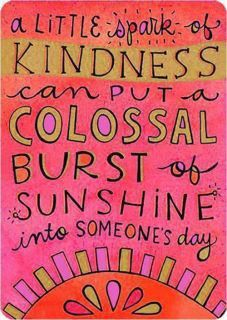 A little spark of kindness...