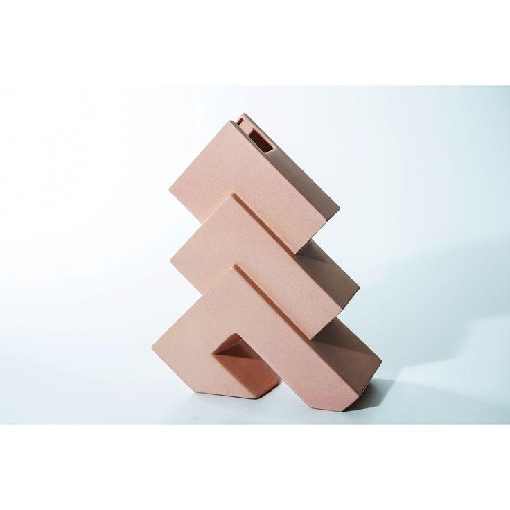 Vaso Futuro designer Florio Paccagnella produttore Florio Keramia - Italia anno 1995 colore rosa in ceramica