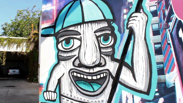 Mister tiki man Escobar arte urbanart urban arte surfart Carlos Escobar 2013 murales