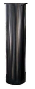 "SB2  Raccoon & squirrel baffle for 1"" poles  Cylindrical Raccoon Baffle. For poles ½"" to 1-5/8"" diameter, 28"" long. 8"" diameter. black."