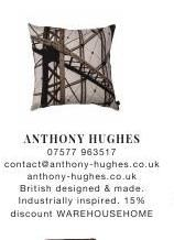 Anthony Hughes | British Design | Industrially Inspired | 15% Discount | Warehouse Home #ClippedOnIssuu from Warehouse home Issue Two
