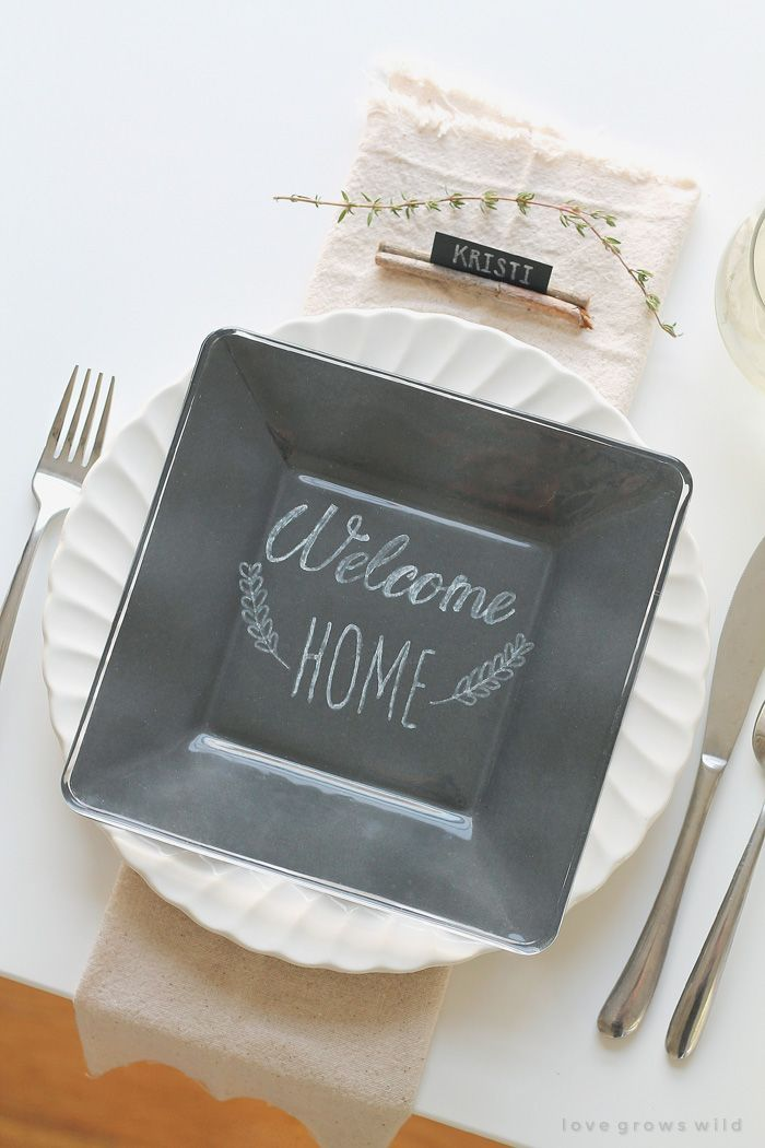 Simple Rustic Table Setting