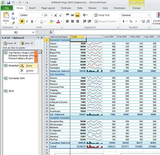 How to Use Excel More Effectively: 10 Great Excel Tips & Tricks - Use Office's Supercharged, High-Capacity Clipboard - Slideshow from PCMag.com