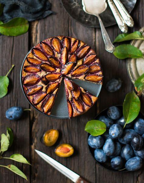 Bittere Schokolade: Пирог со сливами (диетический)