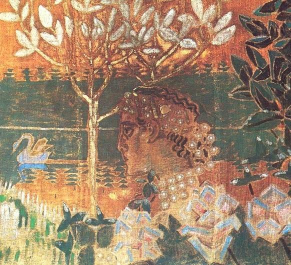 Михаил Врубель. Гвидон (экран для камина)