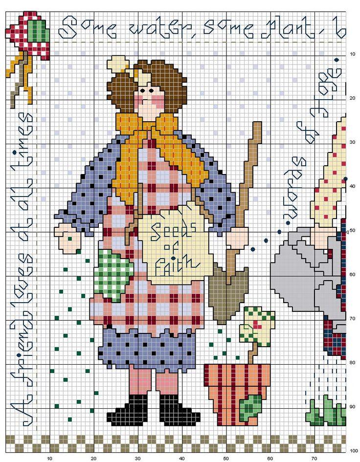 Schema punto croce Giardiniera-1