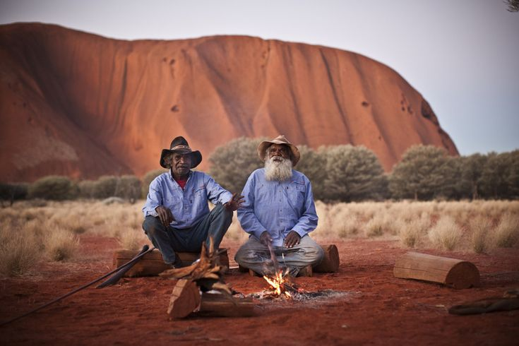 Cassidy and Reggie Uluru, Ayers Rock, Australia Photo: Tourism Australia Aboriginal Image Gallery
