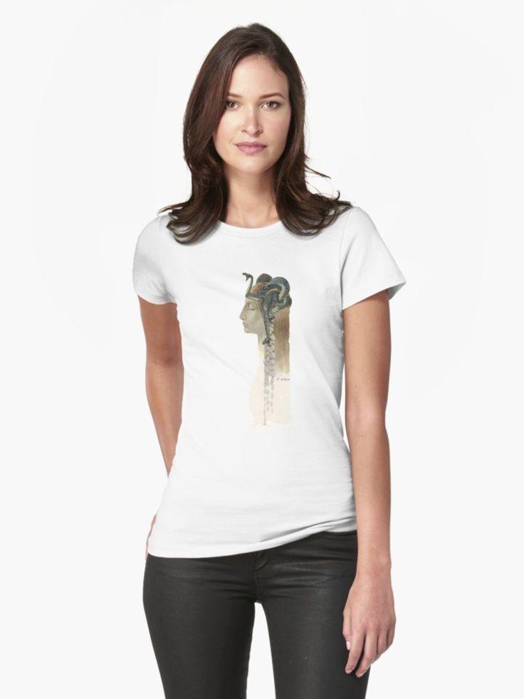 Art Nouveau Medusa - Rene Lalique Womens T-Shirt