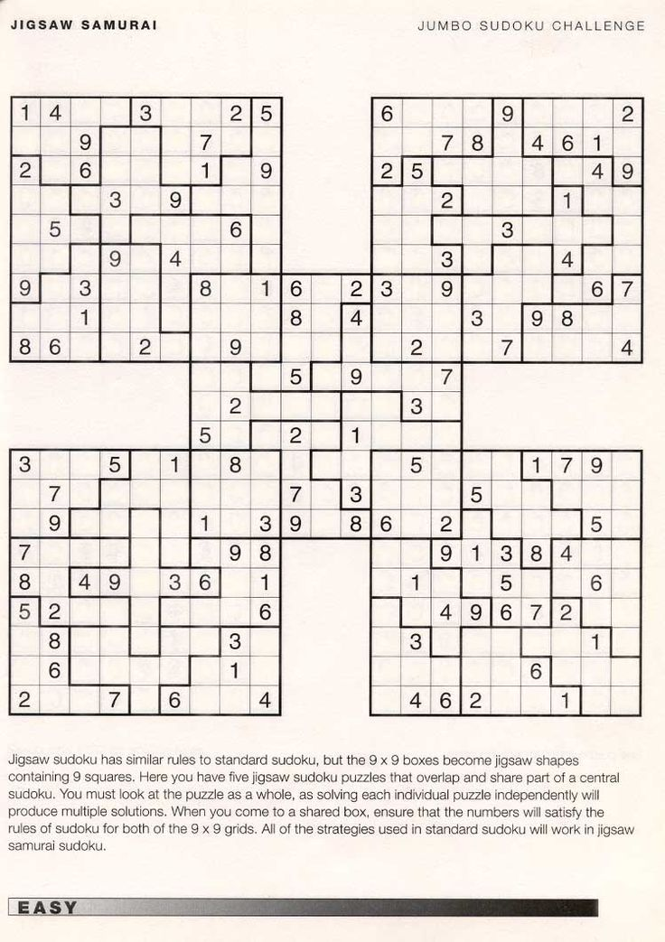 on Sudoku Downloads Hard Samurai Sudoku Download 100 Printable Hard ...