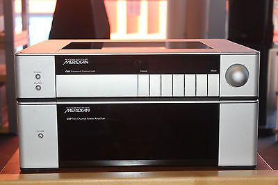 Meridian-G02-Pre-amp-and-G57-Power-Amp-Combo-Used-Made-in-England