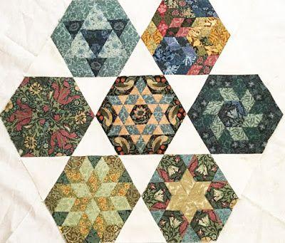 Morris Hexathon Sets in Black and White. Ilyse's white triangles.