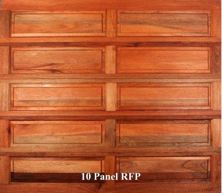 A wooden garage door in 10 Panel RFP style.