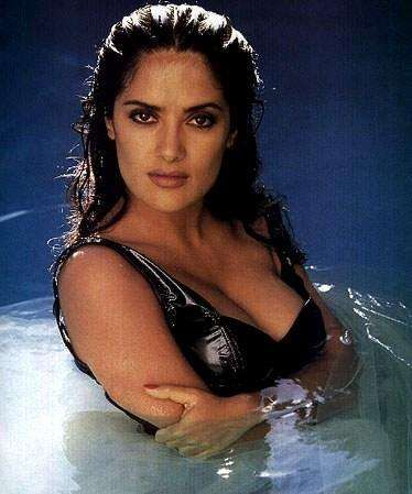 """Photos of Salma Hayek, one of the hottest girls in movies and TV. There are few women out there as sexy and talented as Salma Hayek. Hot - or should I say Caliente - is her middle name. Salma first came to America's attention starring in """"Desperado"""" opposite Antonio Bandaras. She has sinc..."""