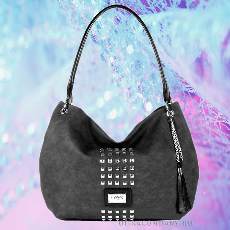 Женская сумка 1172-2 джинса с шипами и кисточкой, размеры 36*10*28 см 1700 руб #сумки #сумка #мода #женская