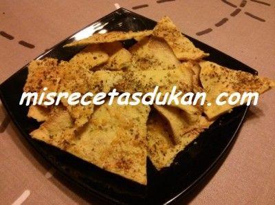 DUKAN - PP - Chips de tofu con ajo en polvo y orégano