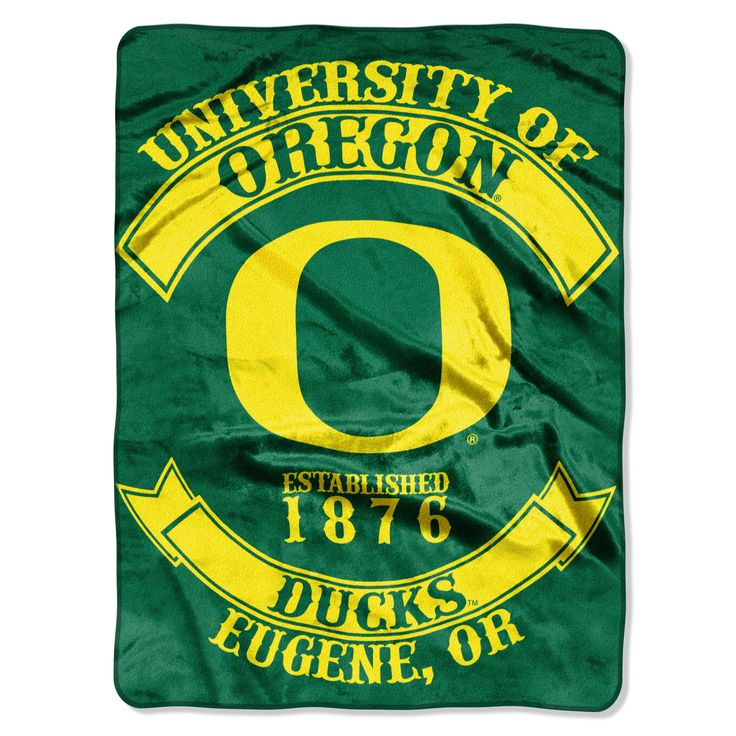 "Oregon College """"Rebel"""" 60x80 Rashchel Throw"