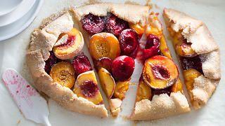 Free-form summer fruit tart | Baking recipes | SBS Food
