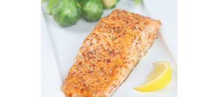 Salmon with Honey, Mustard, and Aji Amarillo Glaze