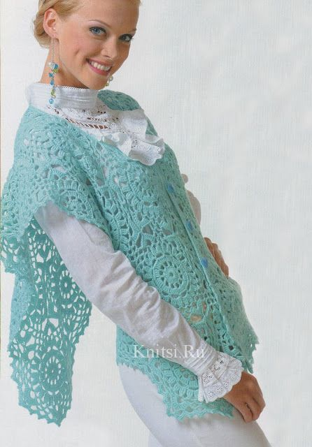 Crochet gold: Scarf-vest!