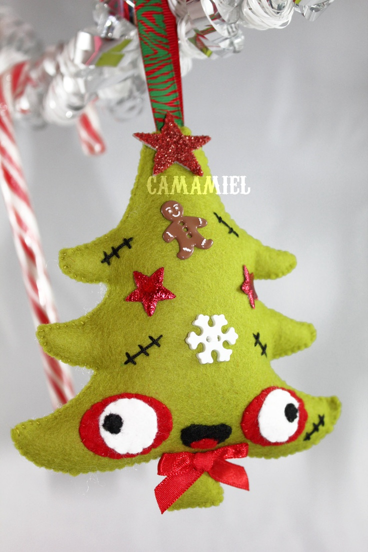 Christmas ornament zombie tree - must make for my niece for Christmas ...
