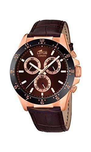 Lotus 18158/3 - Reloj de pulsera Hombre, Cuero, color Marrón