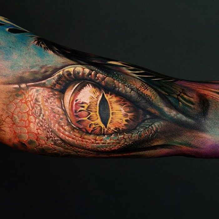Dragon Eye http://tattooideas247.com/dragon-eye/